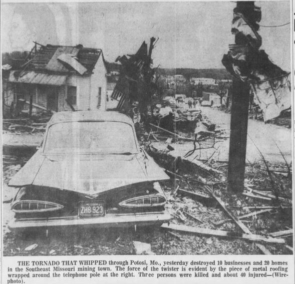 Viburnum-Potosi, MO F4 Tornado – December 21, 1967