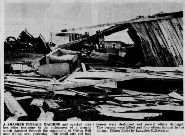 Waldo-Stephens, AR F4 Tornado – December 19, 1957