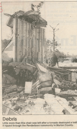 The destroyed trailer (NWS Wilmington).